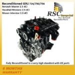 RENAULT MASTER 2.5 dCi G9U 720 724 750 754 RECONDITIONED ENGINE Movano Interstar